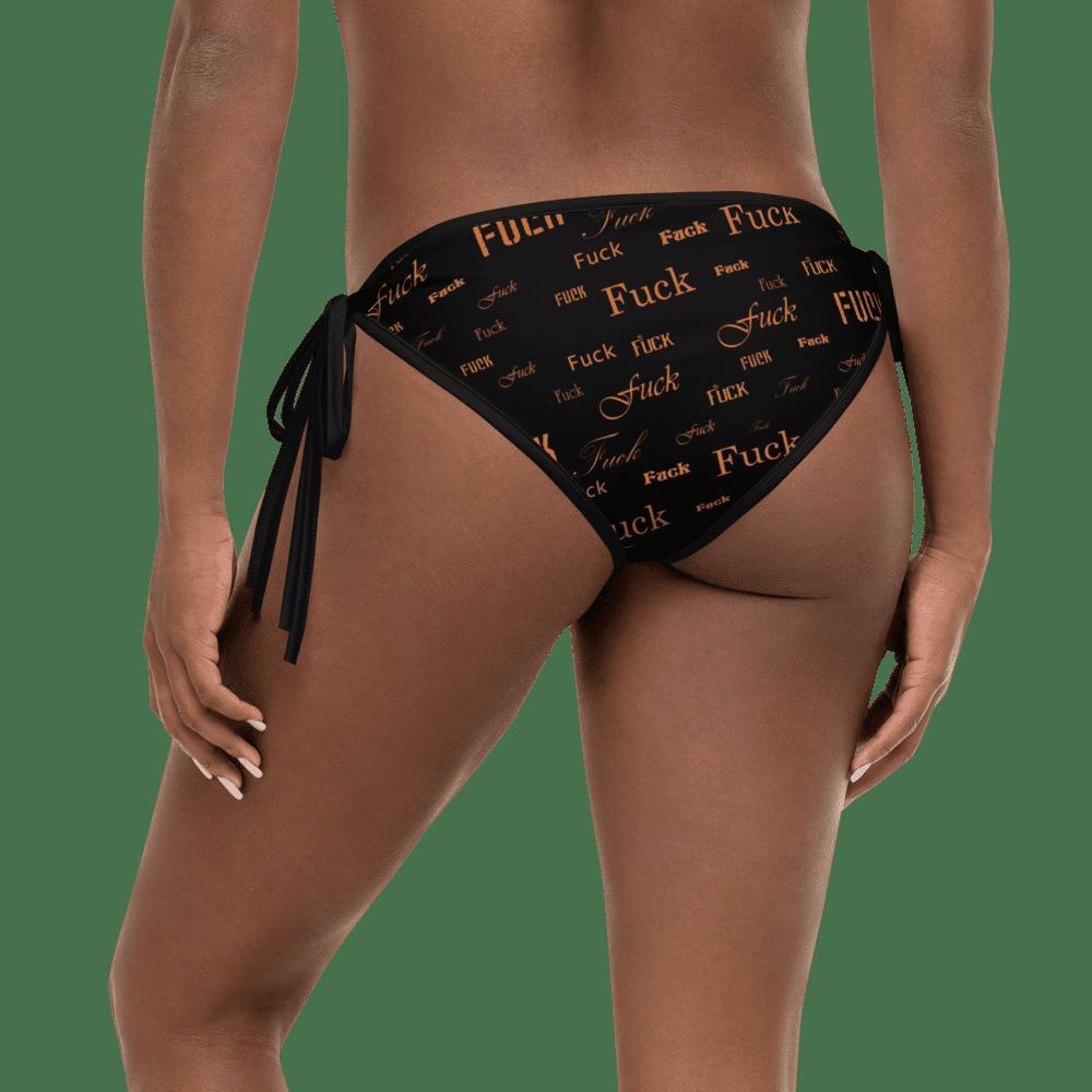 orange fuck bikini bottom
