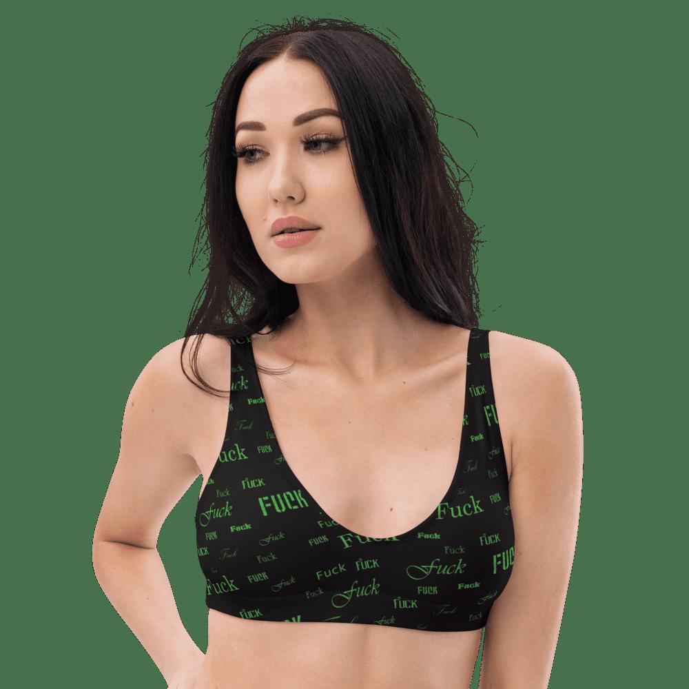 green fuck padded bikini top