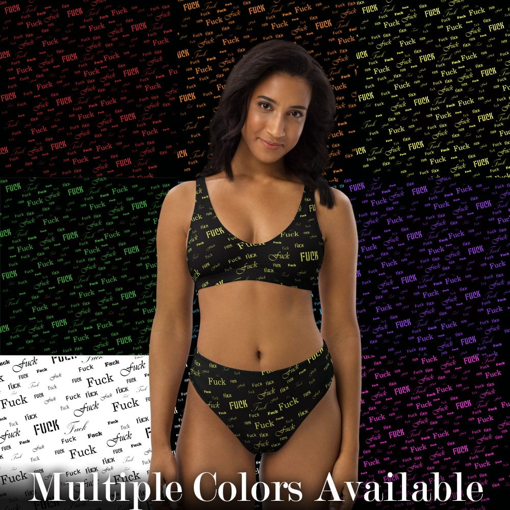 fuck high-waisted bikini comes in multiple colors