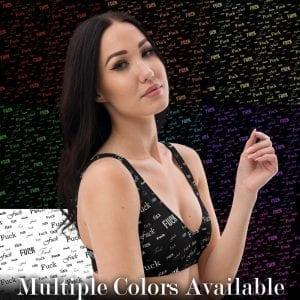 fuck padded bikini top comes in multiple colors