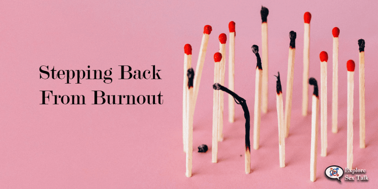 how to step back from burnout